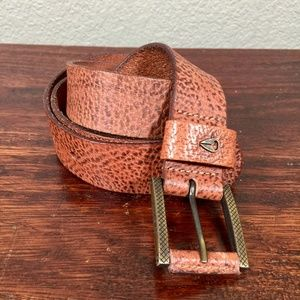 Nixon pebble leather belt brown size XL
